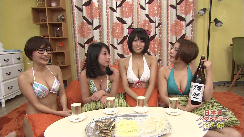 【企画】AV女優があつまって日本酒のみまくった結果wwww水着でいる必要あるか?